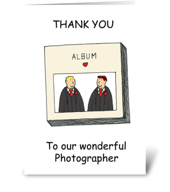 Thanks to civil union photographer. greeting card