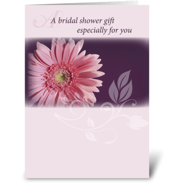 Bridal Shower Pink Daisy Congratulations greeting card