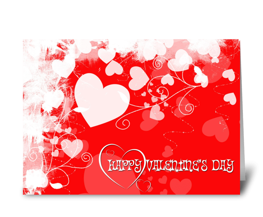 Valentine Hearts  greeting card