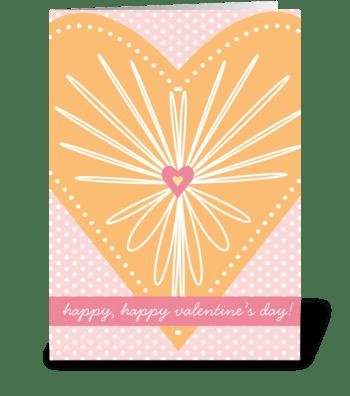 Heart Burst greeting card