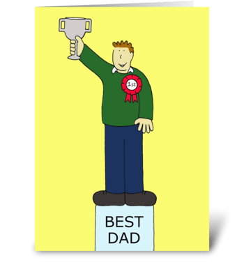 Best Dad Father's Day greeting card
