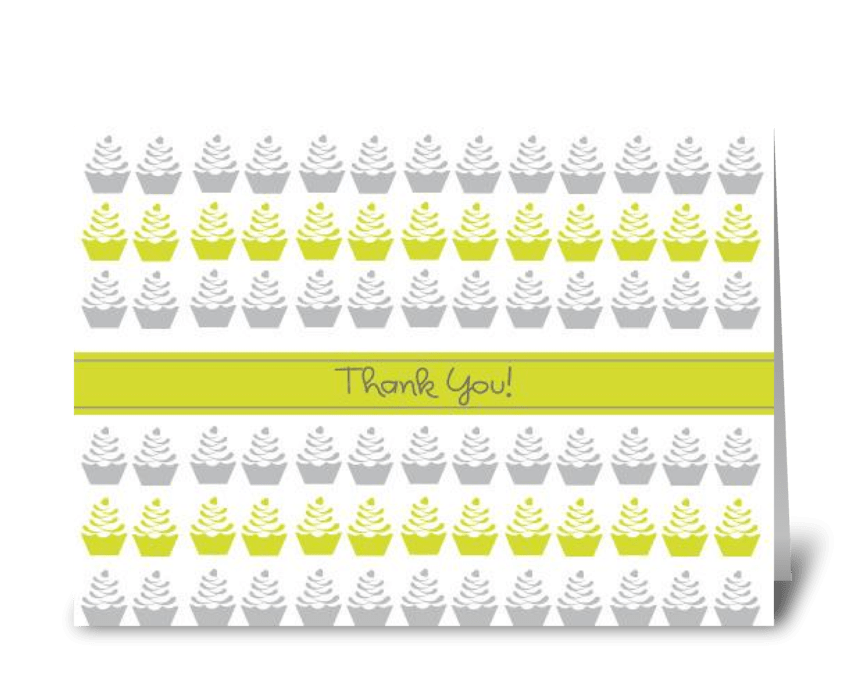 Thank You Cupcake greeting card