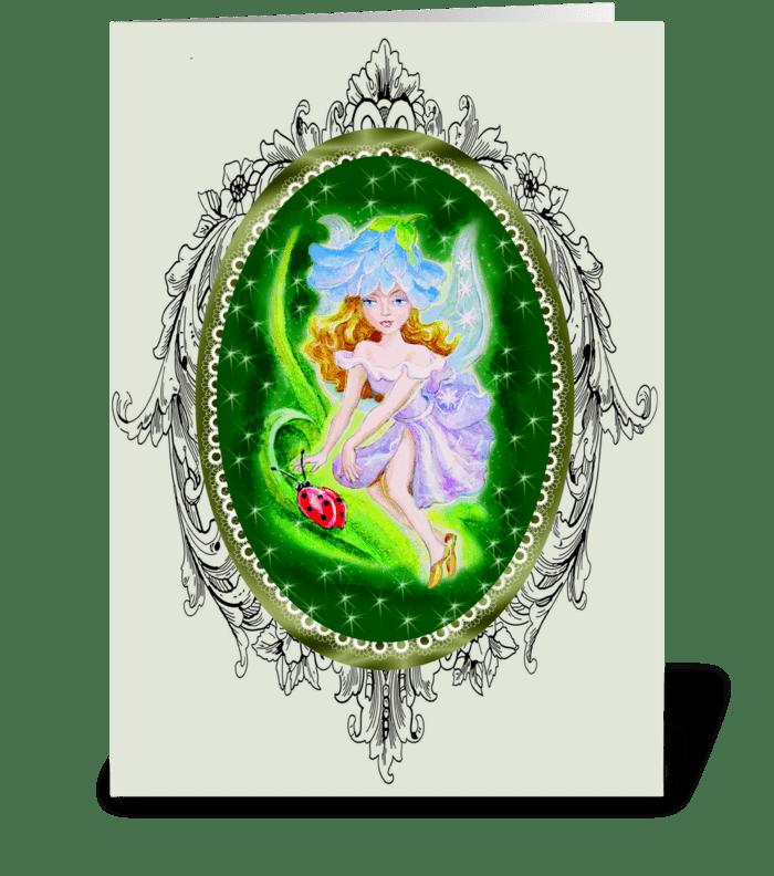 Fairies in the Garden greeting card