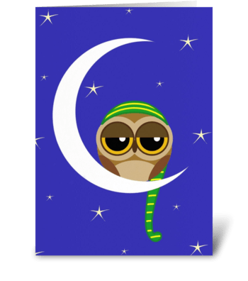 Sleepy Owl  greeting card