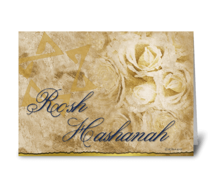 Rosh Hashanah Flowers Card greeting card