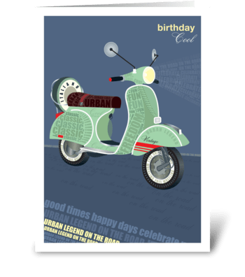 Birthday Vespa greeting card