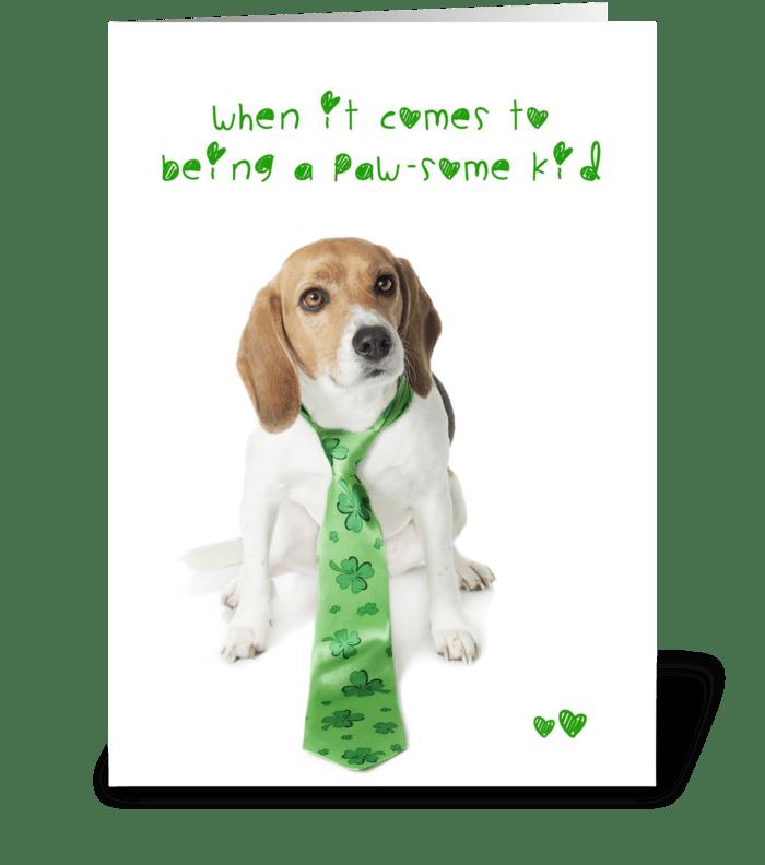 You shamrock dog send this greeting card designed by kelly you shamrock dog greeting card m4hsunfo