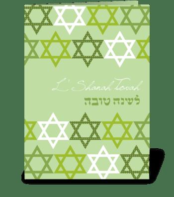 Joyful David stars greeting card