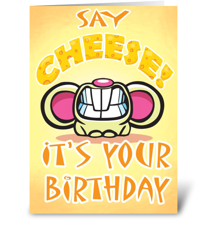 CHEESIE Birthday card greeting card