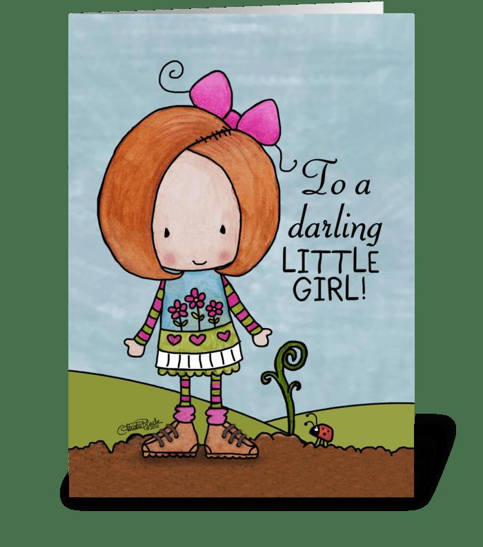 Auburn Hair Birthday Girl Little Sprout Send This Greeting Card