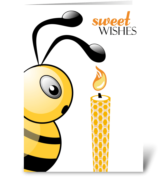 Bee And Birthday Candle