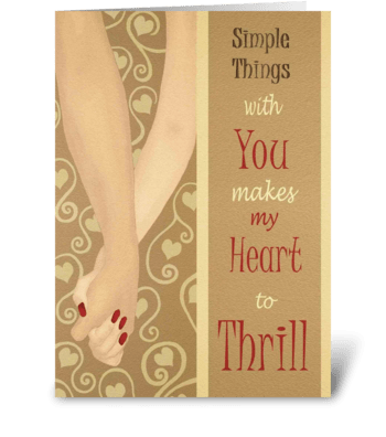 Simple things with you greeting card