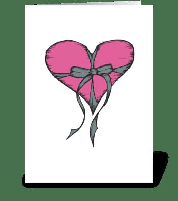 Pink Precious Present greeting card