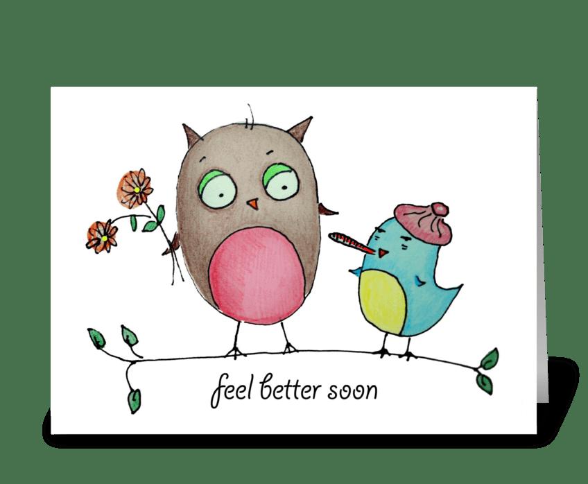 Feel Better, Bird! greeting card