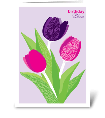 Birthday Bloom greeting card
