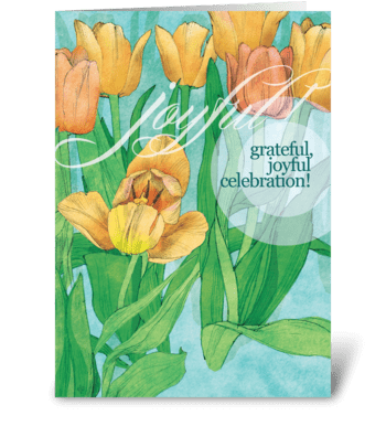 Yellow Tulips Celebrate greeting card