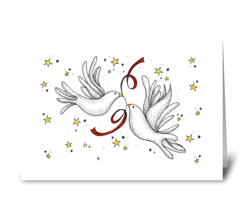 Peaceful Doves greeting card
