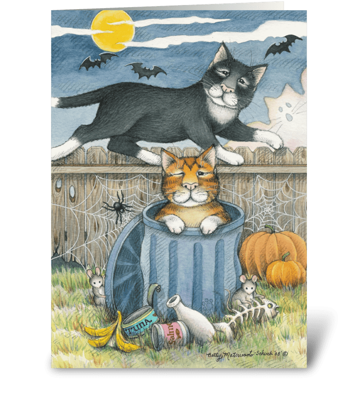 Happy Halloween Cats #33 greeting card