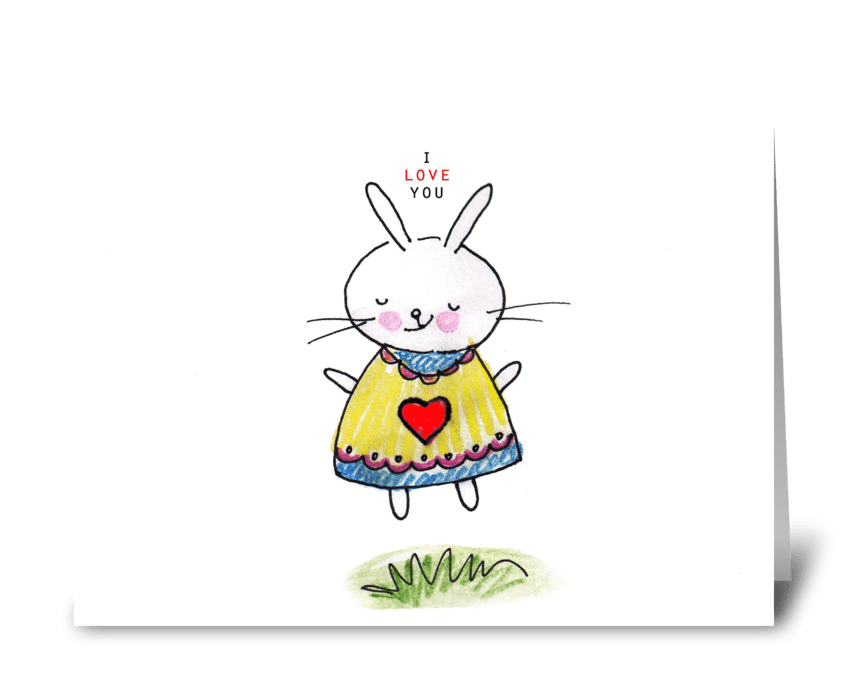 I Love You Bunny greeting card