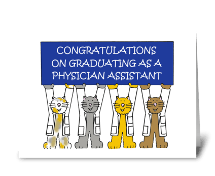 Physician Assistant Graduate. greeting card