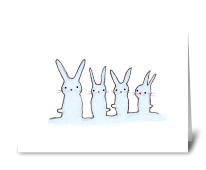 Red Nosed Rabbit greeting card