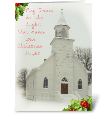 Inspirational Christmas greeting card