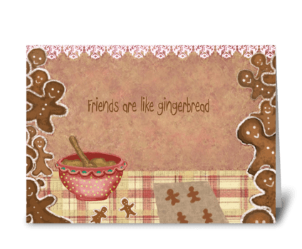 Friendship is sweet greeting card
