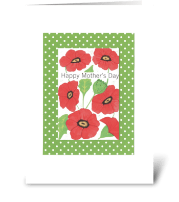 Red Poppy Mother's Day greeting card