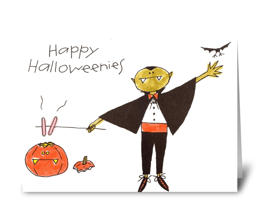 Happy Halloweenies greeting card