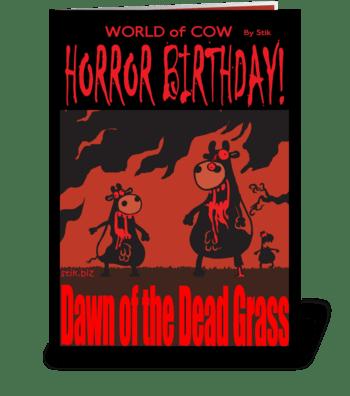 Dawn of the Dead Grass! BD card greeting card