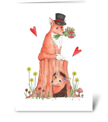 Charming Mr. Fox greeting card