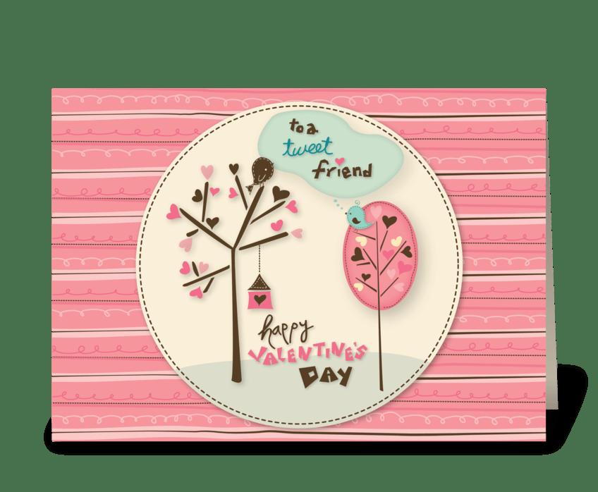 Valentine's Day Love Birds greeting card