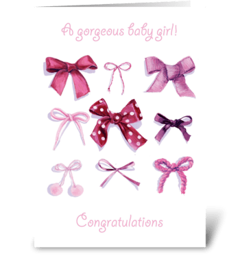 Gorgeous Baby Girl greeting card