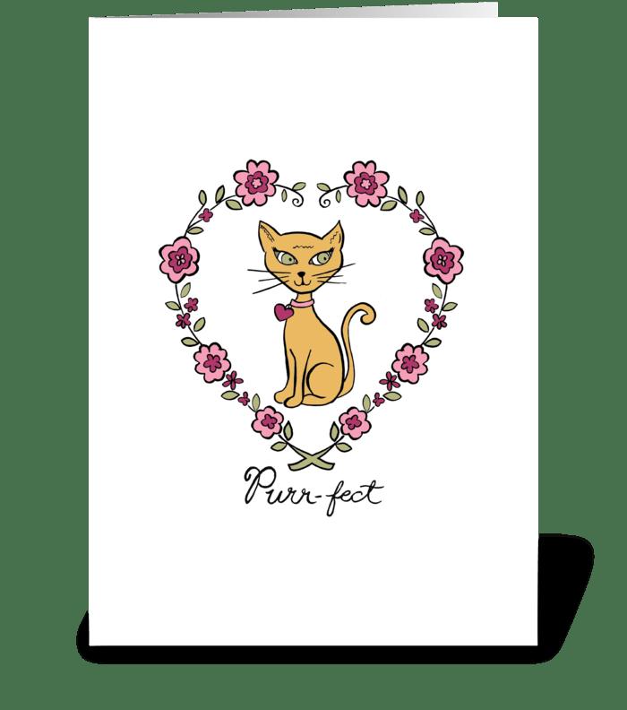 Purr-fect greeting card