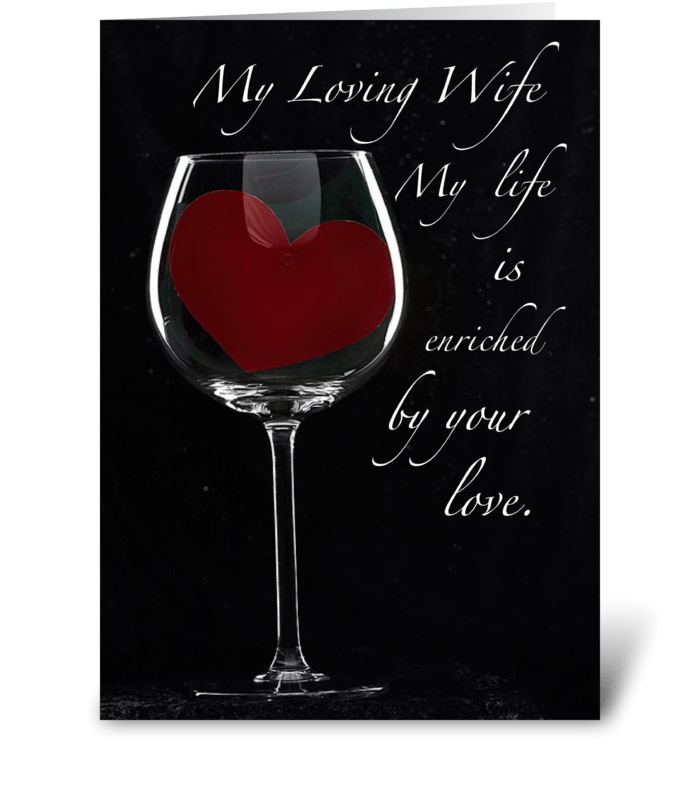 4091 Wife Anniversary Heart in Glass greeting card