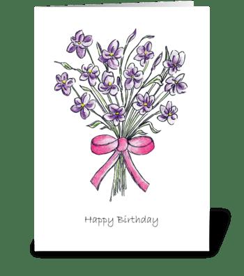 Happy Birthday Greetings greeting card