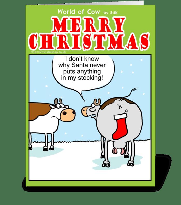 Santa's Stocking greeting card