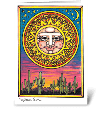 Mexican Sun greeting card