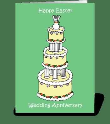 Easter Wedding Anniversary greeting card