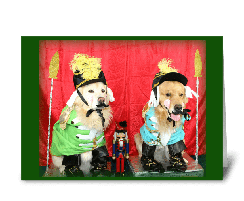 The Golden Nutcracker Suite Christmas greeting card