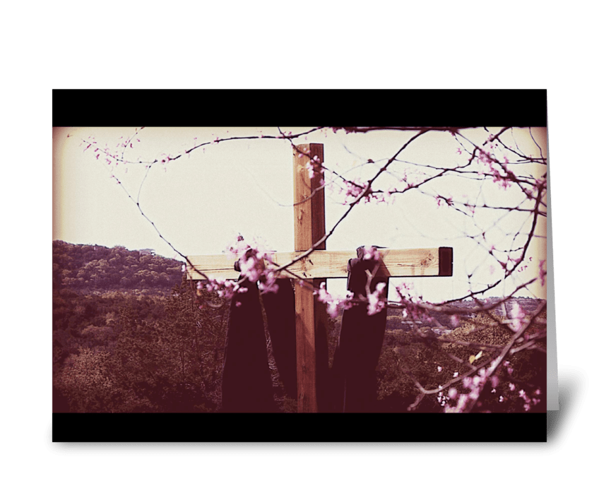 He is risen. greeting card