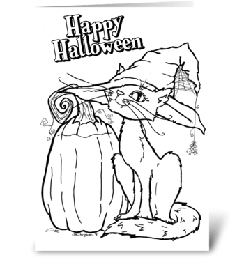 Halloween - Coloring Card greeting card
