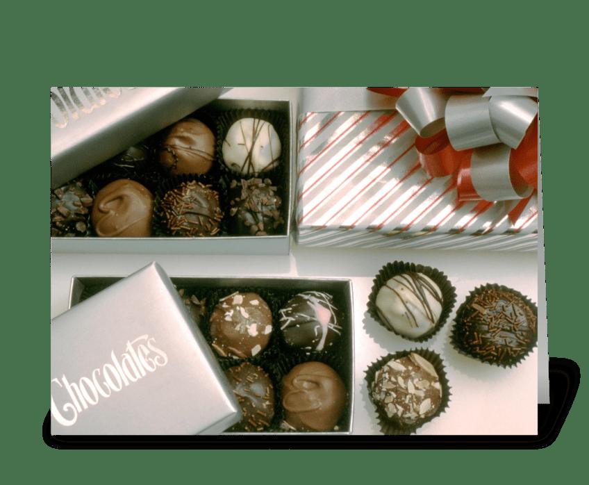 Chocolates greeting card