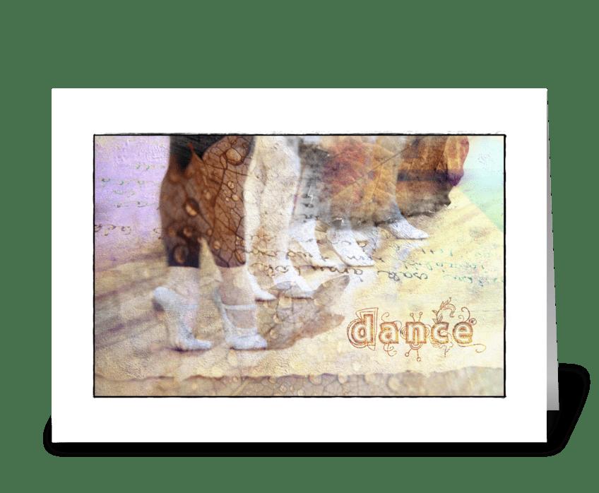 Autumn dance greeting card