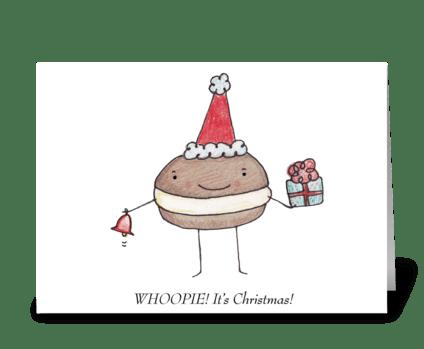Whoopie Pie Christmas greeting card