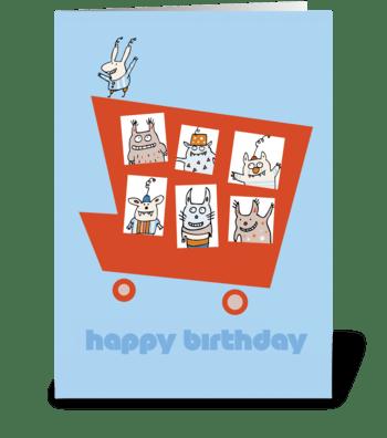 Birthday Monster Truck greeting card