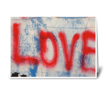 Red Love Graffiti IV - photograph greeting card