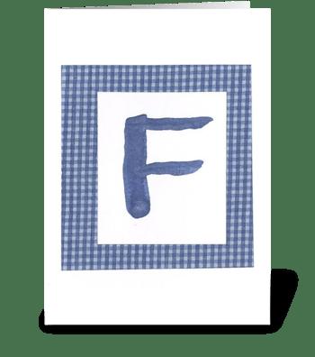 F -Baby Boy greeting card