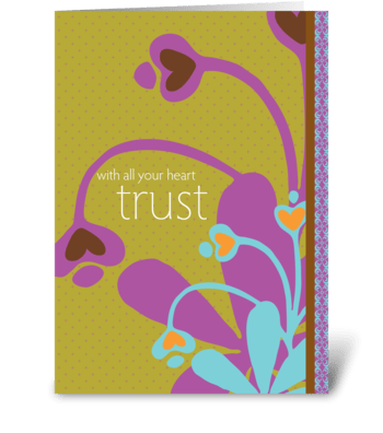 with all your heart trust greeting card