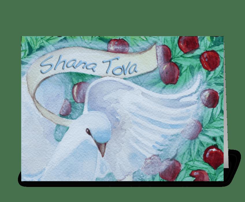 Shana Tova Dove Note Card greeting card